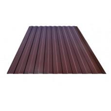 Профнастил коричневый C8 окрашенный RAL 8017