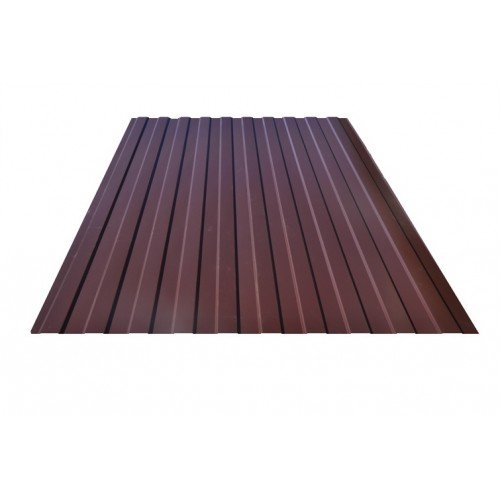 Профнастил коричневый C21 окрашенный RAL 8017